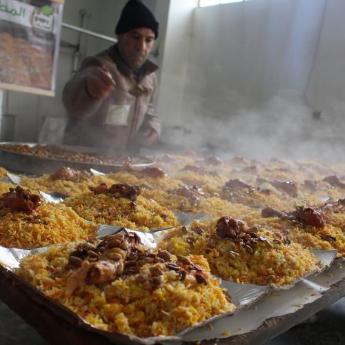 مشروع المطبخ الخيري أيتام ومهجرين